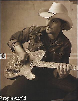 Brad Paisley Custom Vintage Crook Guitar 8 x 11 pinup photo ready to frame