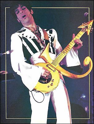 Prince live onstage with Custom Auerswald Symbol guitar 8 x 11 pinup photo