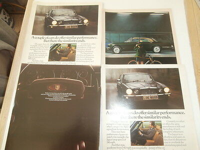 jaguar xj adverts 1977-8   magazine extracts  qty 4