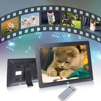 12'' HD TFT-LCD Digital Photo Picture Frame Clock MP3/4 Movie Player+Remote G5W2
