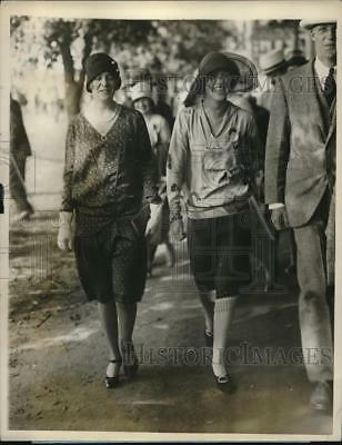 1927 Press Photo Shirley Manning, Eleanor Lungley, International Polo Matches