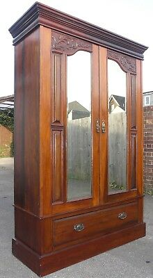 Victorian Double Mirror Door Wardrobe