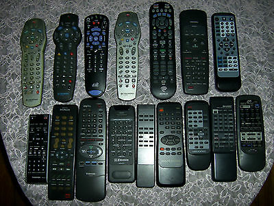 Lot 16 Remote Controls Tv, Vcr, Cd Player, Dvr, Cable, Receiver, Dtv, Satellite