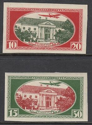 LATVIA 1930 DURBES CASTLE, Imperforate pair, Mint Never Hinged