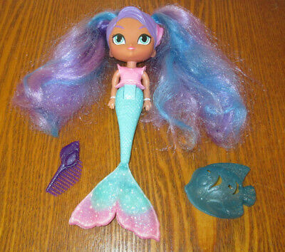 Shimmer and Shine Magic Mermaid NILA doll Purple Hair Changes Color in Water