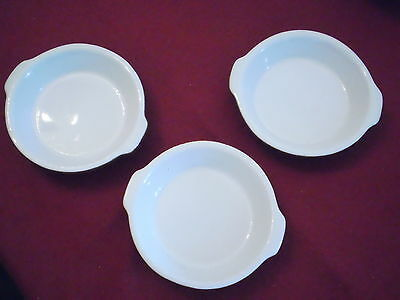 H.F. HF Coors China Chefsware Restaurant Ware 92 Set of THREE Brown Dishes 5.5""