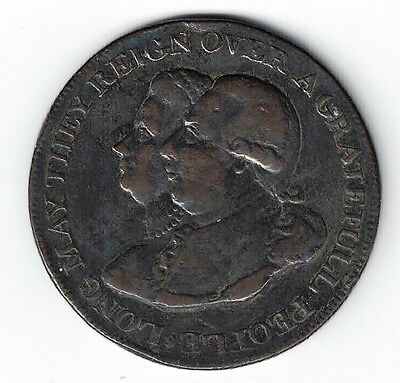 Middlesex Halfpenny Token The Guard And Glory Of Britian Long May They Reign