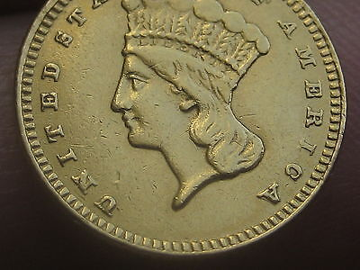 1876 $1 Gold Indian Princess One Dollar Coin- Extremely Rare!