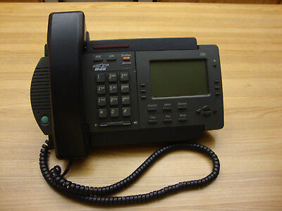 One Charcoal Vista 350 Desk Telephone Made In Mexico No Power Adapter Included