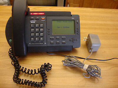 Vintage Charcoal Vista 350 Desk Telephone Made In Mexico
