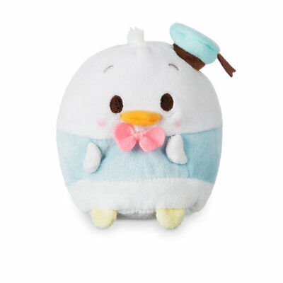 """Disney Store Donald Duck Ufufy Plush Small 4 1/2"""" Apple Blossom Scented Sits Up"""