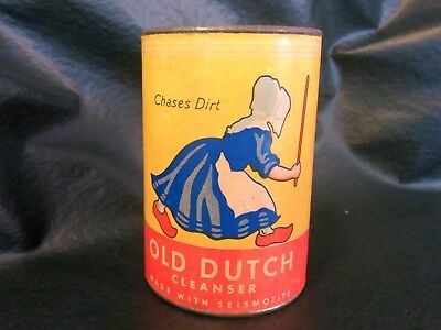 1937 Old Dutch Cleanser Tin Can & Paperboard Coin Bank