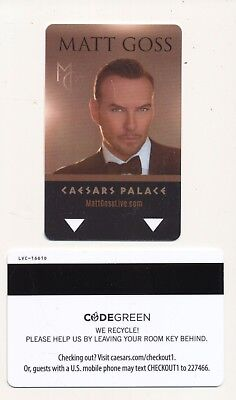 """MATT GOSS""--CAESARS PALACE----Las Vegas,NV------Room key"