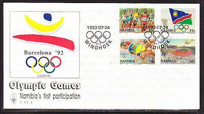 Namibia 1992 Barcelona Olympics First Day Cover - Unaddressed