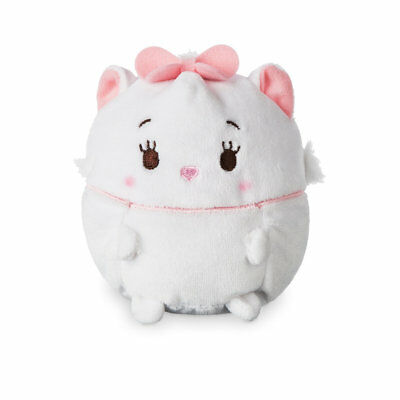 """Disney Store Marie Ufufy Plush Small 4 1/2"""" Apple Blossom Scented Sits Upright"""