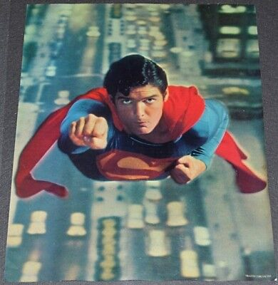 SUPERMAN 1978 ORIG. 17x22 SET OF 4 MOVIE POSTERS! SPIC AND SPAN PRODUCT PROMO!