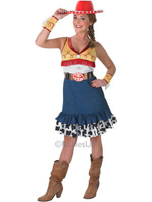 Adult Disney Cowgirl Toy Story Jessie Outfit New Fancy Dress Costume Ladies