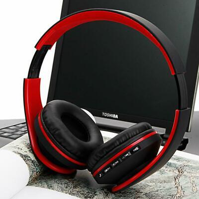 Bluetooth Wireless Headset Stereo Headphone Foldable Microphone Universal Red