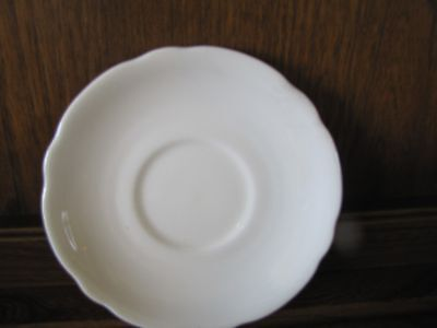 Plain White China Porcelain 1X16cms Saucer Fluted Edge for Soup/Breakfast cup?