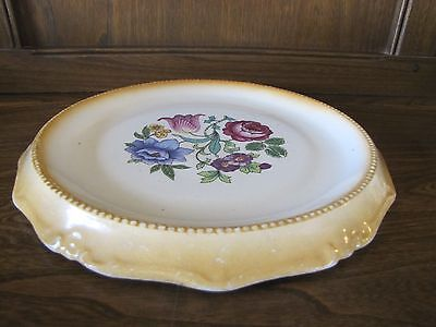 1930's? 26cms Floral Cake stand/Plate