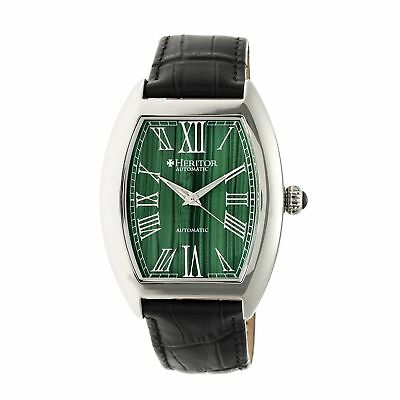 Heritor Baron Leather-Band Watch, Forest Green, HERHR6003