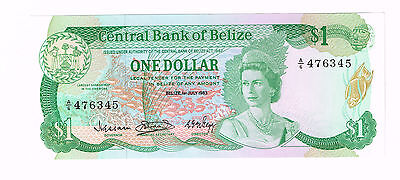 Belize $1 1983 Largest Barrier Reef In The Americas Fish Bird Lizard P-43 Ch-Unc