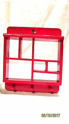 Wooden Shadow Box Red Handcrafted