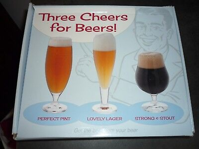 Dartington Three Cheers for Beers 62cl, 39cl & 50cl High Performance Glasses