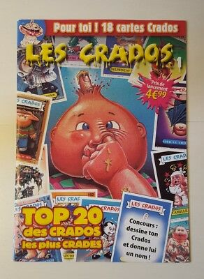 Les Crados - Magazine 1 - Avril 2017 - Contient 18 cartes - GARBAGE PAIL KIDS -