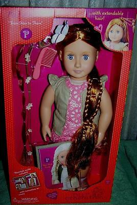 """Our Generation Hair Play 18"""" Redhead Doll Patience New"""