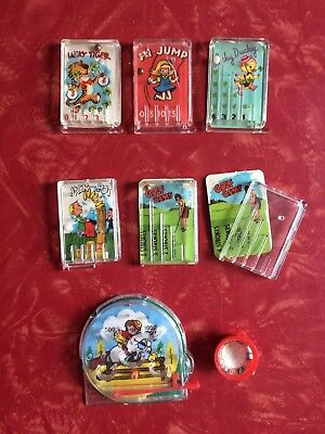 Cracker Jack Toy Prize Lot of of 8 Pinball Games