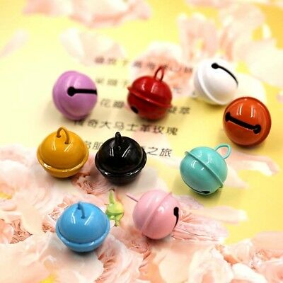 22mm Candy Color Craft Jingling Bells Holiday Christmas Home Decor Pets Hanging