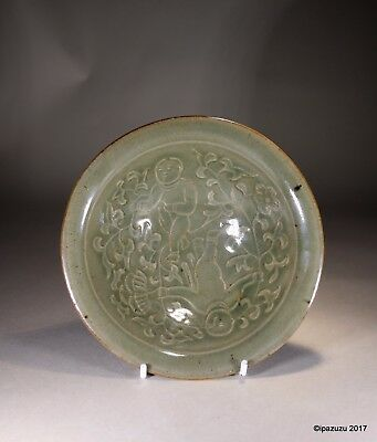 Antique Chinese Celadon Glazed Reticulated Bowl Song Ming Yaozhou