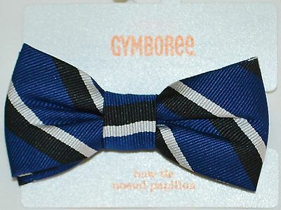 Gymboree Best In Blue Blue Black and White Striped Bow Tie 2T-5T Boys NWT