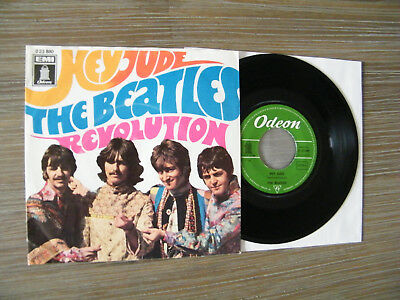 7' The Beatles - Hey Jude / Revolution - (Green Odeon / Dream Condition!)