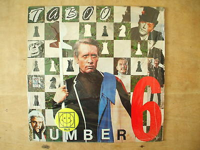 """Taboo - Number 6 - 12"""" Single Record With Badge - The Prisoner"""