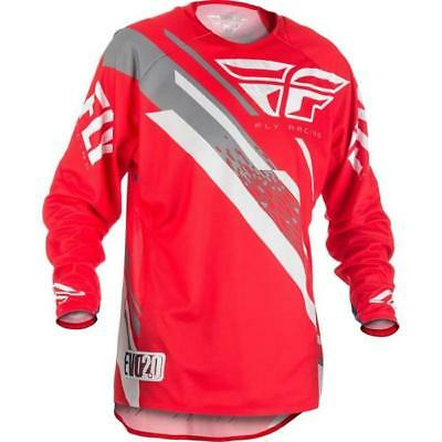 FLY RACING KINETIC EVOLUTION 2.0 Motocross Jersey 2018 - Red Grey White