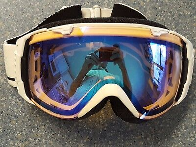 Smith VO Snow White Ski Board Snow Goggles Bubble Face Good Foam Extra Lens