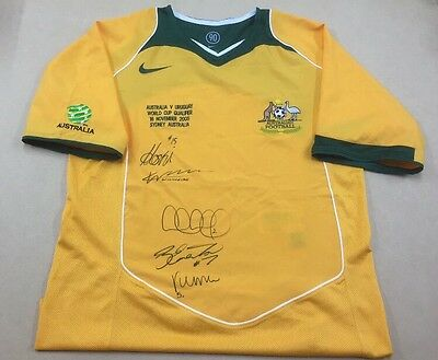 Socceroos FIFA World Cup 2006 Qualifying Shirt (Rare) SIGNED By 5