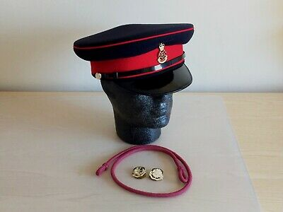 British Army Queen's Lancashire Regiment Service Cap, Badge & Lanyard. 60cm.