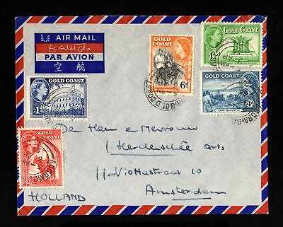 15336-GOLD COAST-AIRMAIL COVER ACCRA to AMSTERDAM (holland).1955.Cote d´or.