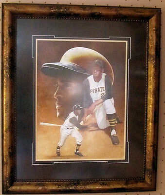 Roberto Clemente Signed by Artist Original Art Painting Pittsburgh Pirates Rare