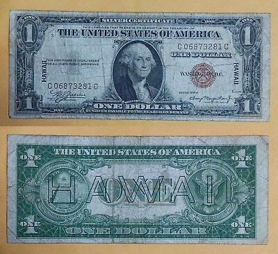 1935-A Hawaii $1 Emergency Note Silver Certificate