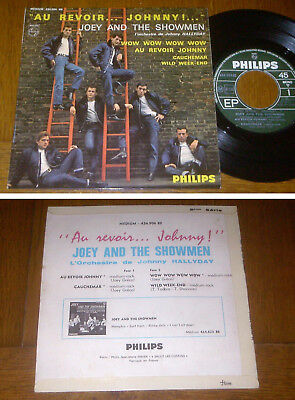 RARE French EP 45t BIEM (7') JOEY AND THE SHOWMEN (Johnny Hallyday 1964)