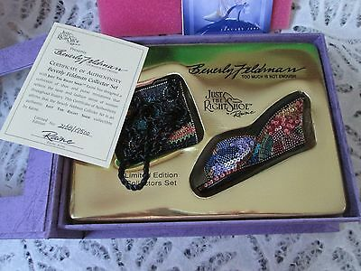 Just the Right Shoe, Raine 2002 COLLECTOR SET Beverly Feldman 2168/17500 LE