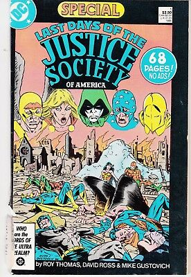 LAST DAYS OF JUSTICE SOCIETY  #1 1986 DC -SPECIAL- 68pgs THOMAS/ROSS...