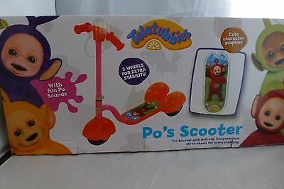 NEW - Teletubbies - Po's Kids Scooter - With Sounds - age 3+ - 3 Wheels
