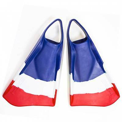 New Ally Floating ERS4 Swim/Bodyboarding Fins/Size Extra Large/Blue/Red/White
