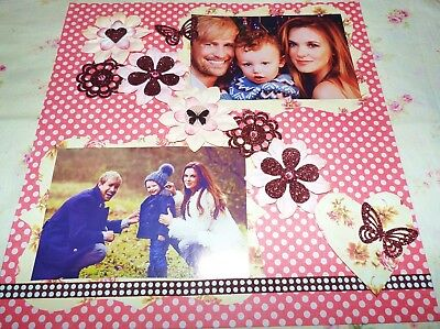 "SCRAPBOOK PAGE HANDMADE12 X 12 ""No title....HUGE SALE"