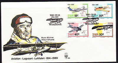 South West Africa  1989 Aviation First Day Cover - Unaddressed